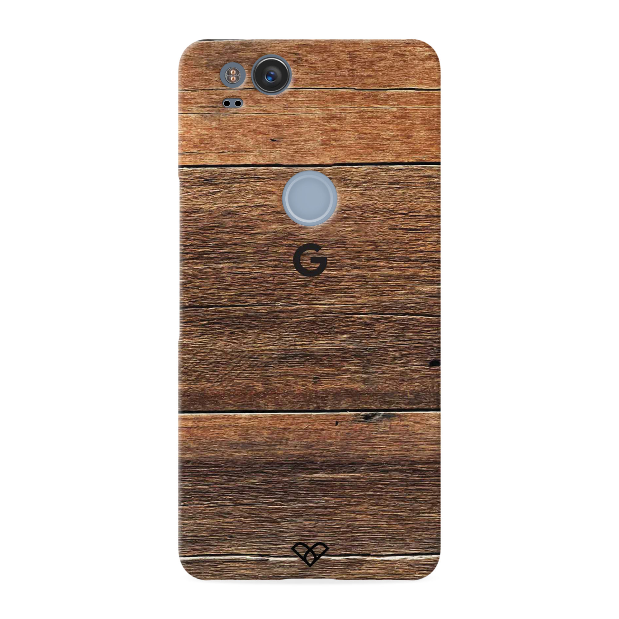 Plywood Texture Slim Case And Cover For Pixel 2