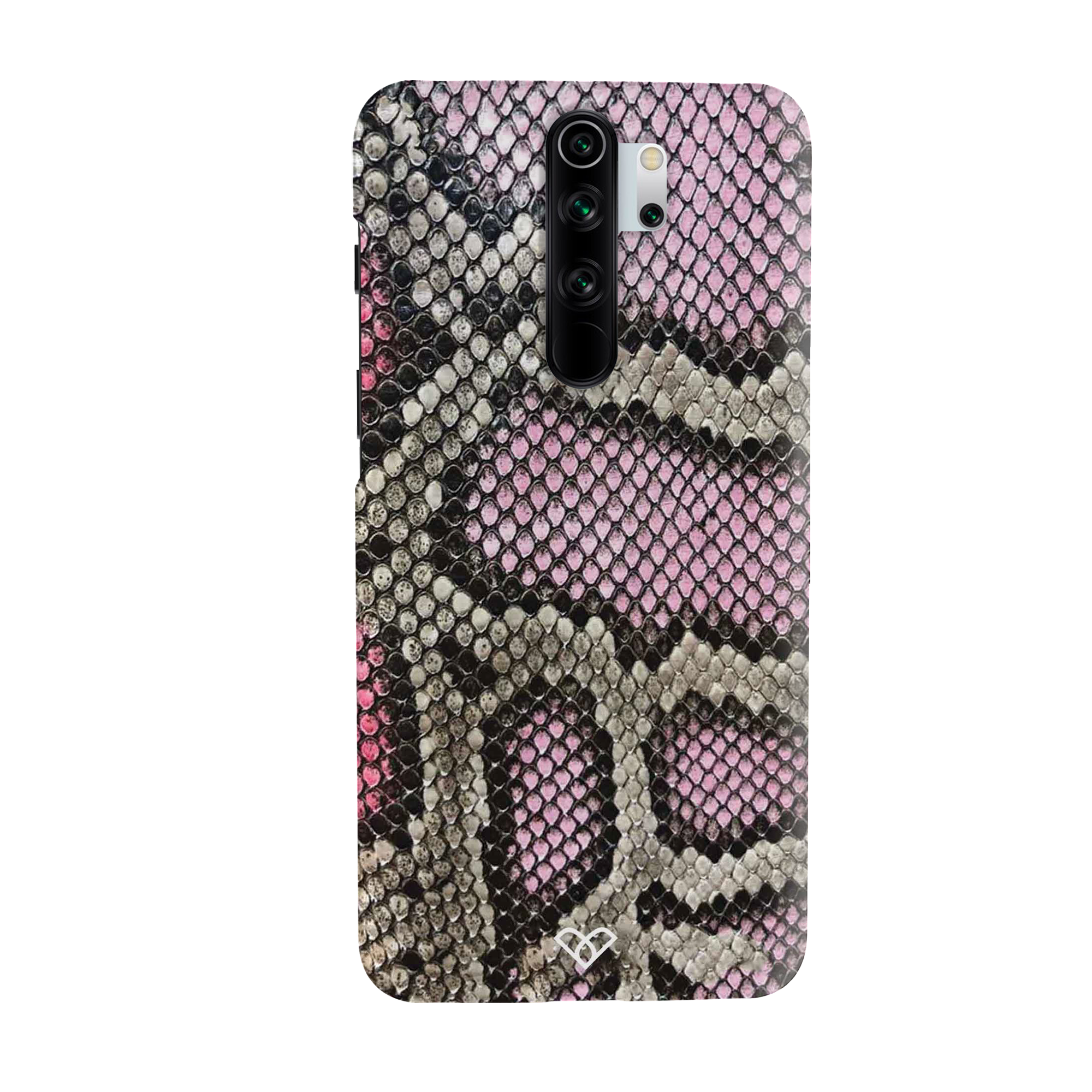Cobra Skin Pink Slim Case And Cover For Redmi Note 8 Pro