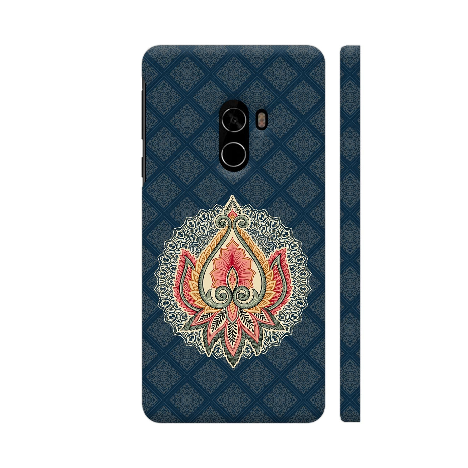 Ornamental Floral Slim Case And Cover For Mi Mix 2