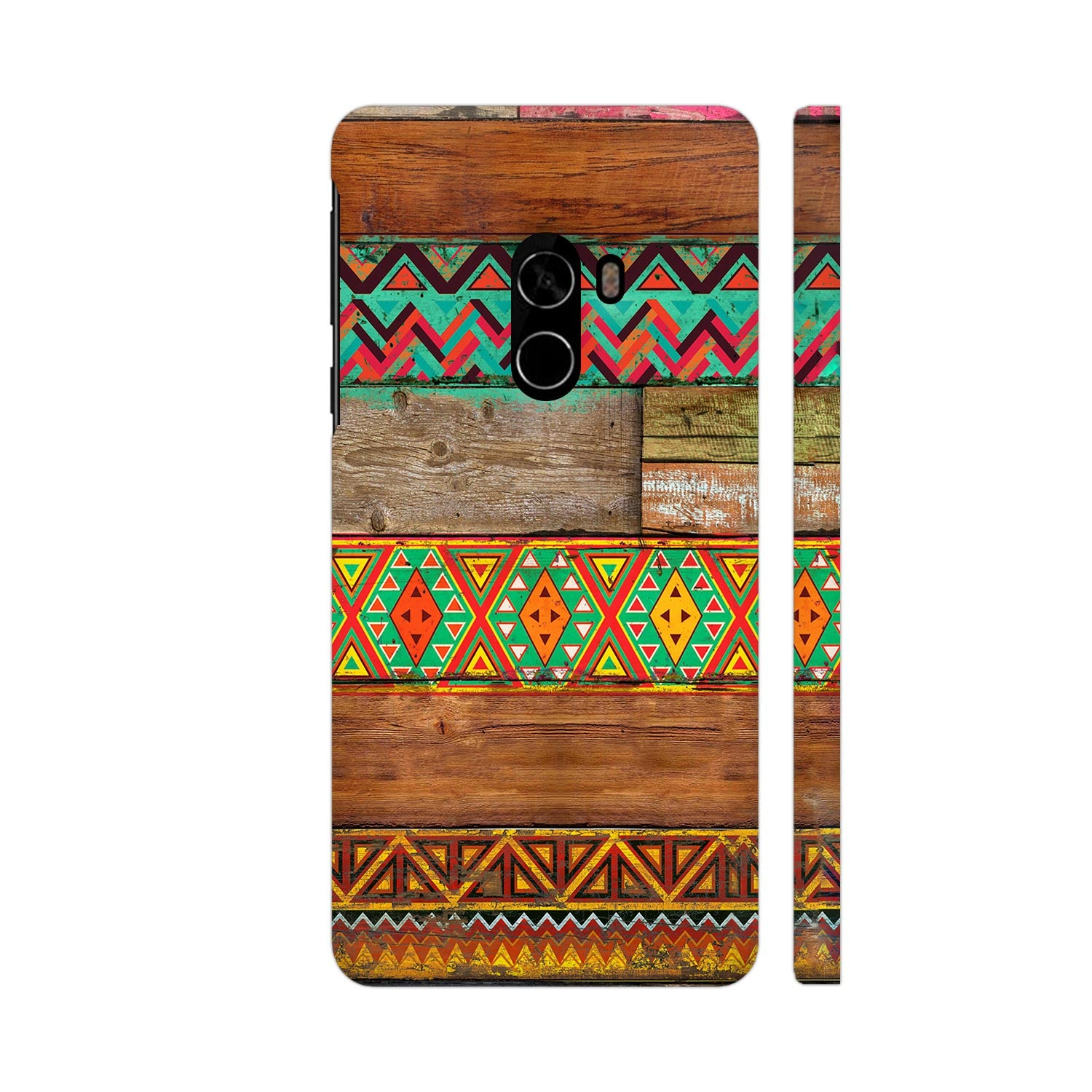 Indian Wood Slim Case And Cover For Mi Mix 2