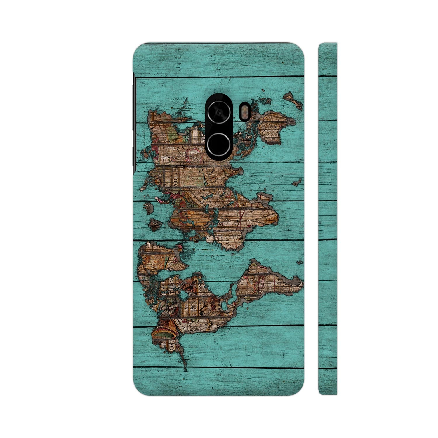 World Map Teal Slim Case And Cover For Mi Mix 2