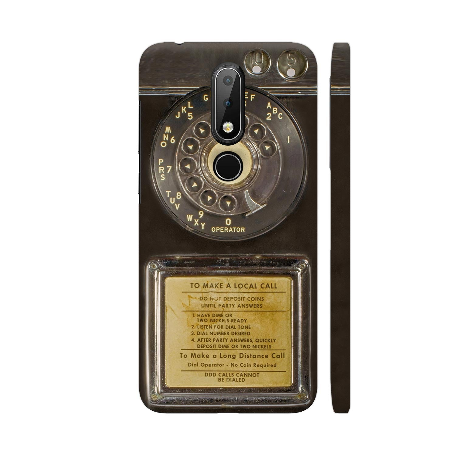 Vintage Slot Phone A.K.A The Public Payphone Slim Case And Cover For Nokia 6p1 Plus