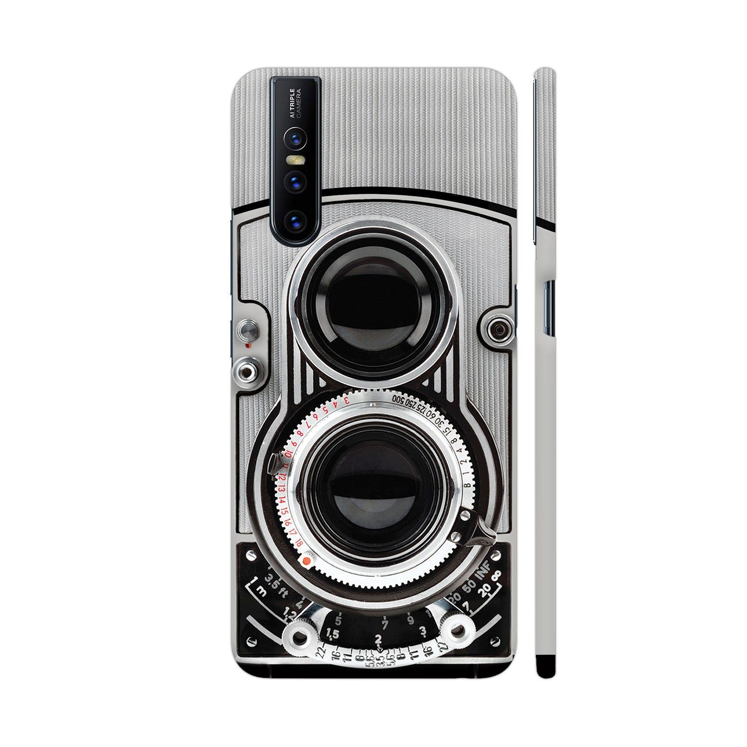 Vintage Twin Lens Reflex Camera Slim Case And Cover For Vivo V15 Pro