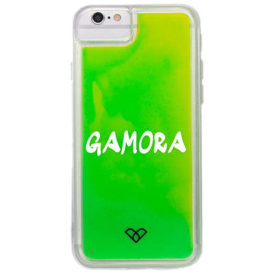 iPhone 6S Plus Custom Neon Sand Liquid Glow Cases-Green-Yellow