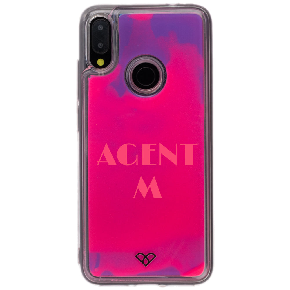 Redmi Note 7 Pro Custom Neon Sand Liquid Cases And Covers-Pink