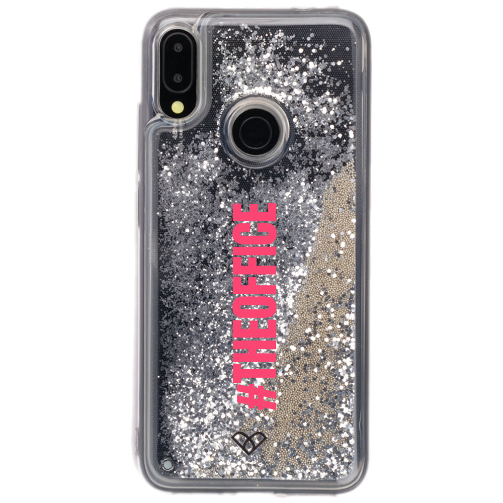 Redmi Note 7 Pro Custom Glitter Cases And Covers-Shimmering Silver