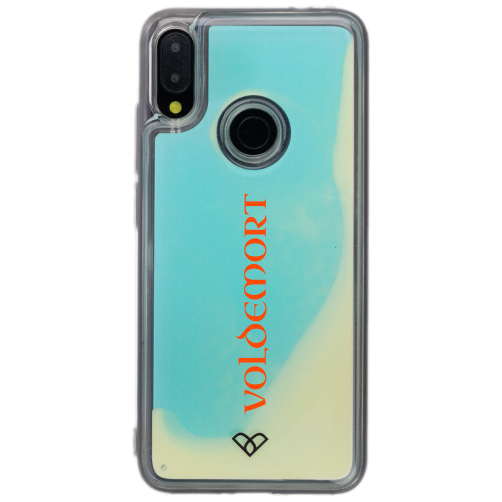 Redmi Note 7 Pro Custom Neon Sand Liquid Glow Cases-Blue-White