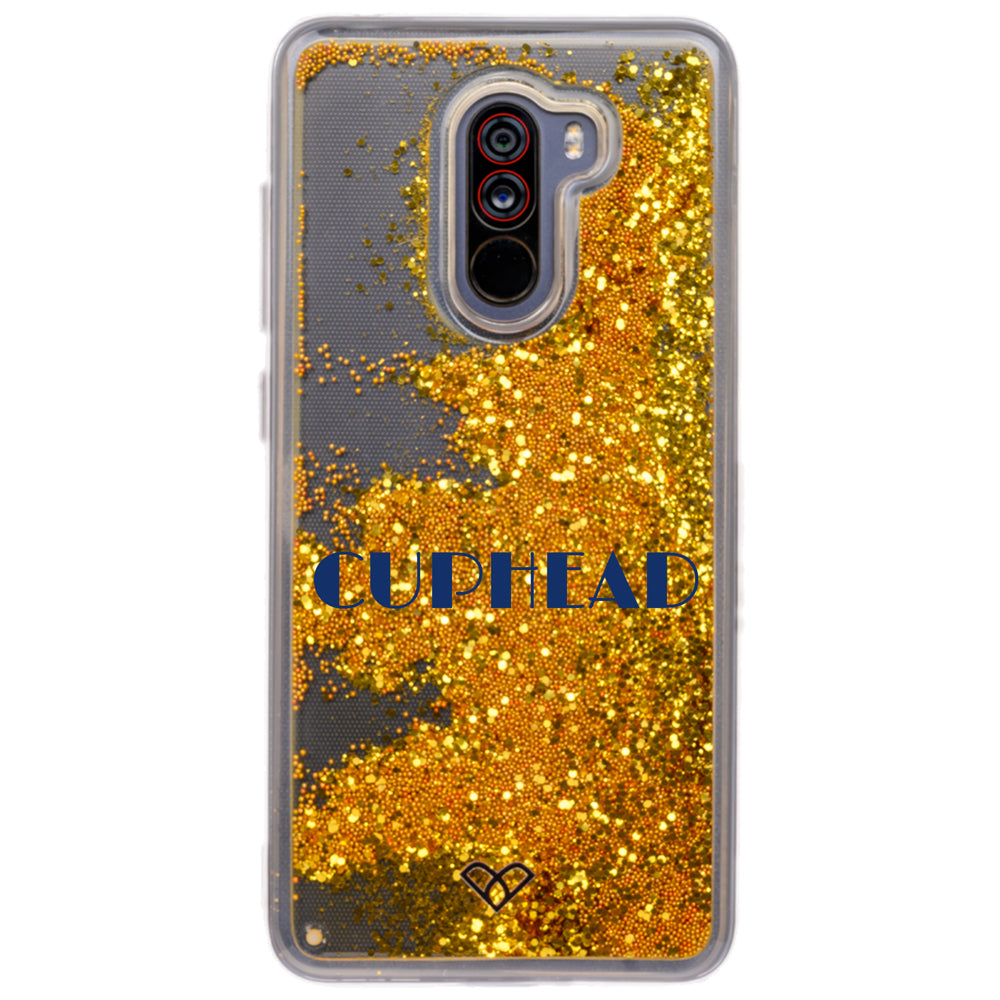 Poco F1 Custom Glitter Cases And Covers-Bling Gold