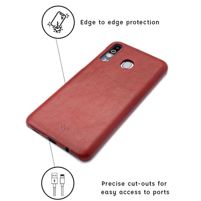 Galaxy M30 Leather Cases And Covers-Ruby Red