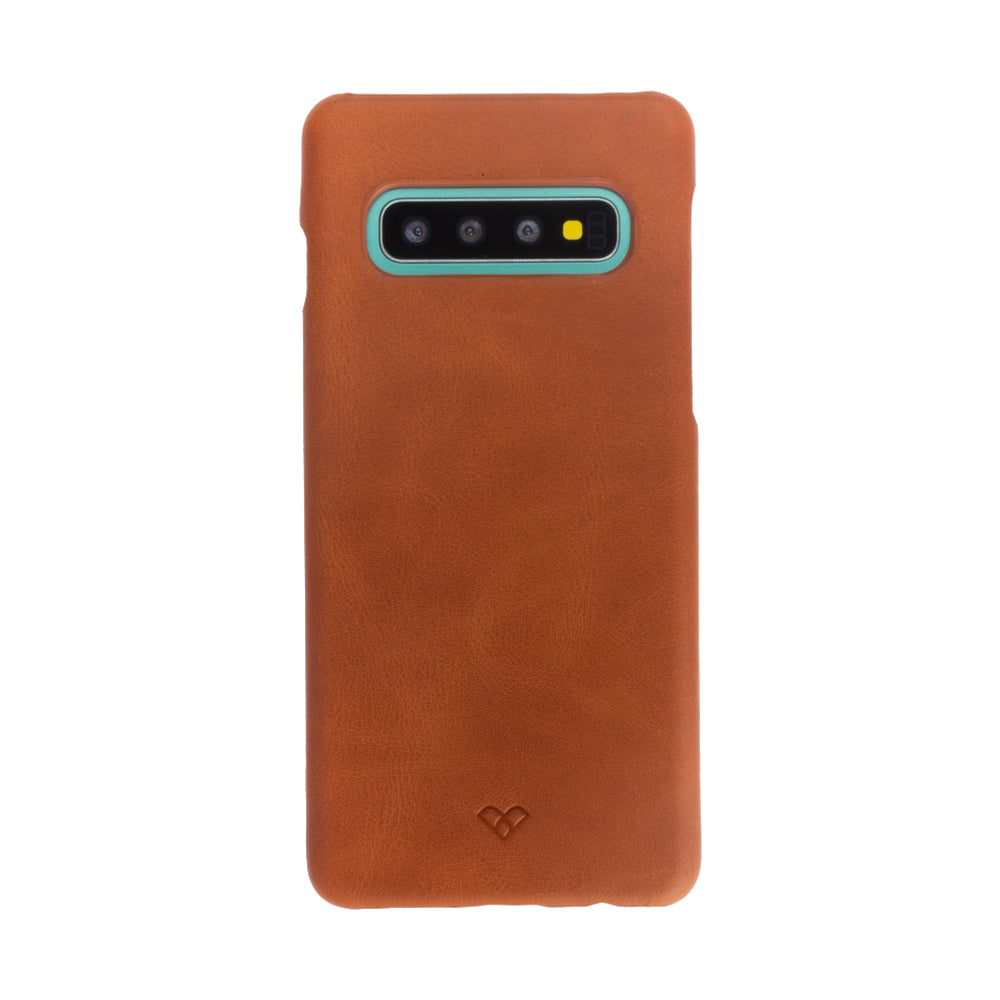 Galaxy S10 Leather Cases And Covers-Caramel Brown