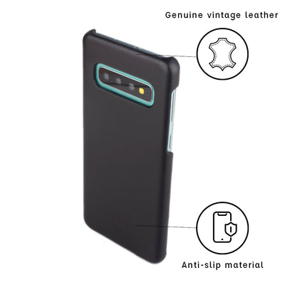 Galaxy S10 Plus Leather Cases And Covers-Onyx Black