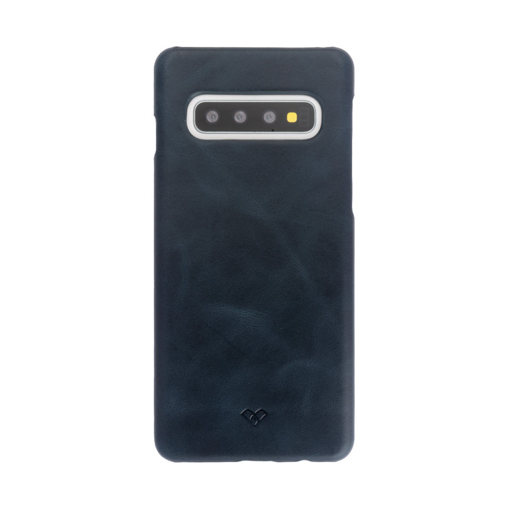 Galaxy S10 Plus Leather Cases And Covers-Aegean Blue