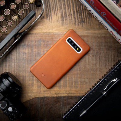 Triangle Monogram Galaxy S10 Leather Cases