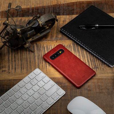 Galaxy S10 Plus Leather Cases And Covers-Ruby Red