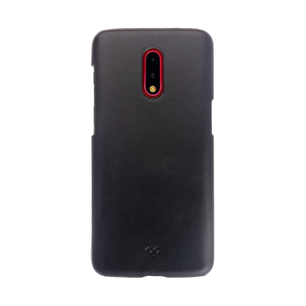 OnePlus 7 Leather Cases And Covers-Onyx Black