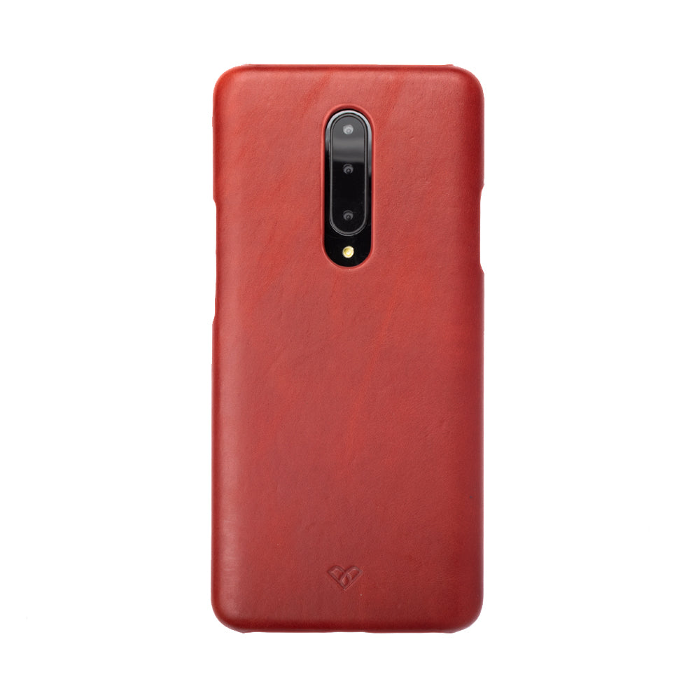 OnePlus 7 Pro Leather Cases And Covers-Ruby Red