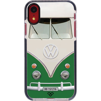 Volkswagen Hippie Camper Impact Case And Cover For iPhone XR-Green