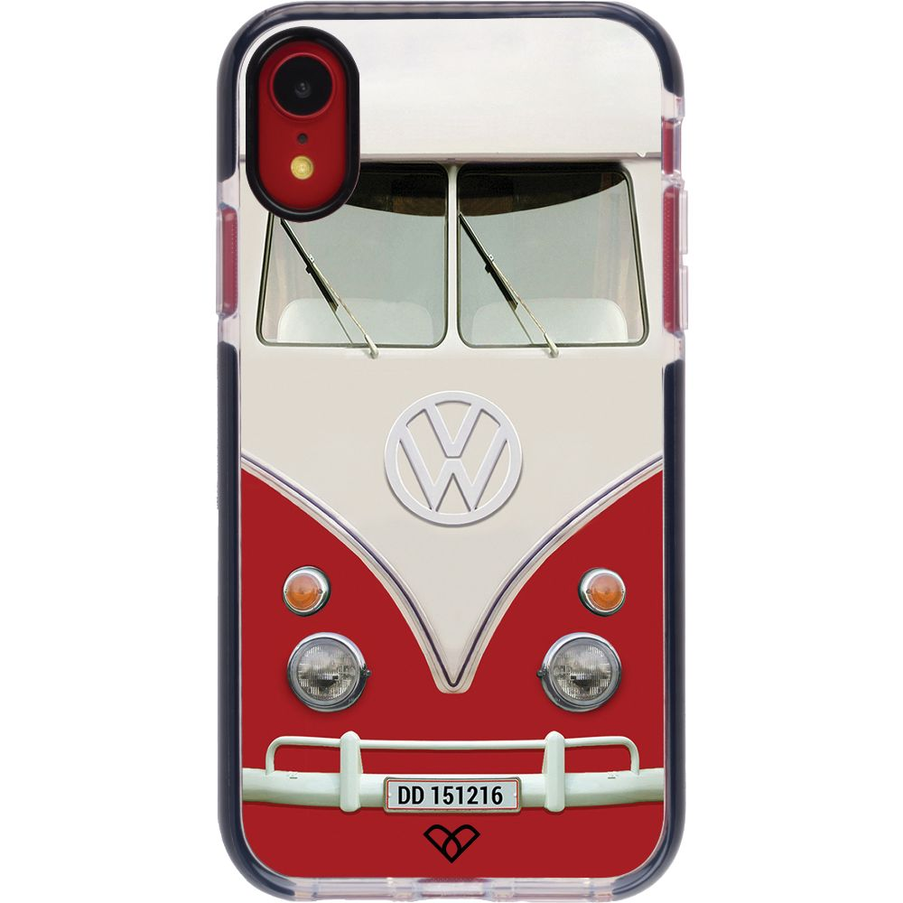 Volkswagen Hippie Camper Impact Case And Cover For iPhone XR-Red