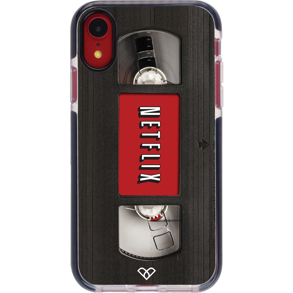 Netflix On VHS Impact Case And Cover For iPhone XR