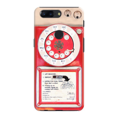Vintage Slot Phone A.K.A The Public Payphone Slim Case And Cover For Oneplus 5T