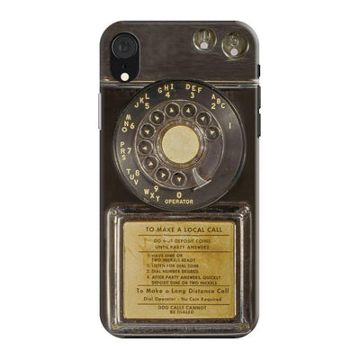 Vintage Slot Phone A.K.A The Public Payphone Slim Case And Cover For Iphone XR