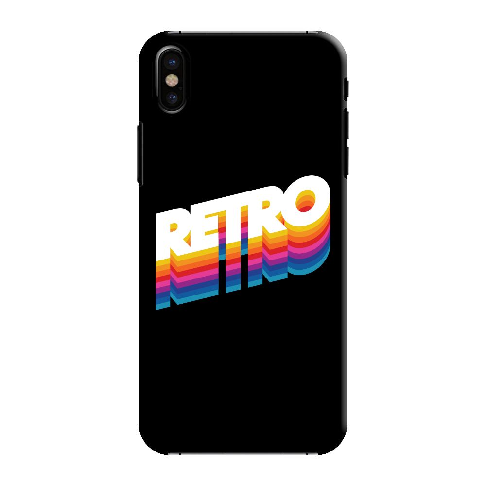 Back To The Retro Slim Case And Cover For iPhone XS