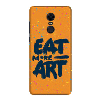 Eat More Art Slim Case And Cover For Redmi Note 5