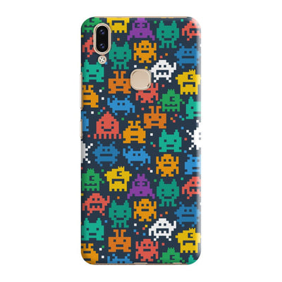 Pixel Monsters Slim Case And Cover For Vivo V9