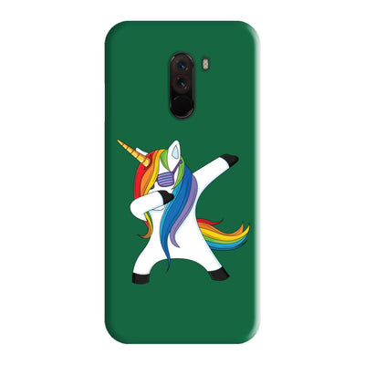 Dabbing Unicorn Slim Case And Cover For Poco F1