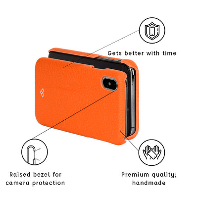 iPhone XS Max Leather Cases And Covers-Zesty Orange