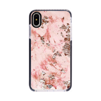 Pink Marble Impact Case And Cover For iPhone XS