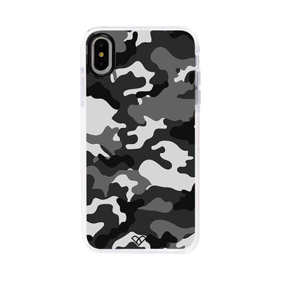 Black Patterned Camouflage Impact Case And Cover For iPhone XS