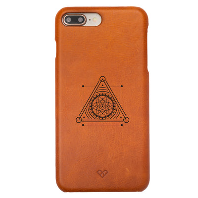 Unwind-Pyramid Mandala iPhone 7 Plus Leather Cases
