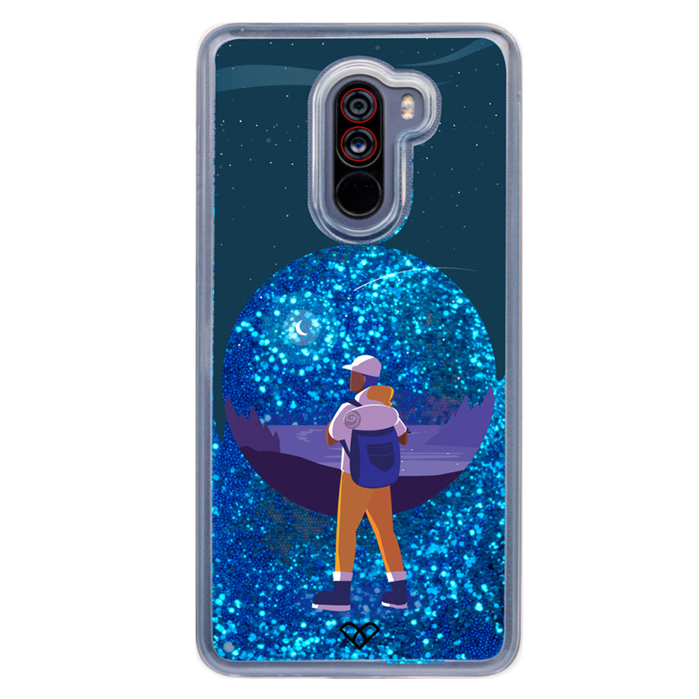 The Wanderer Glitter Case And Cover For Poco F1