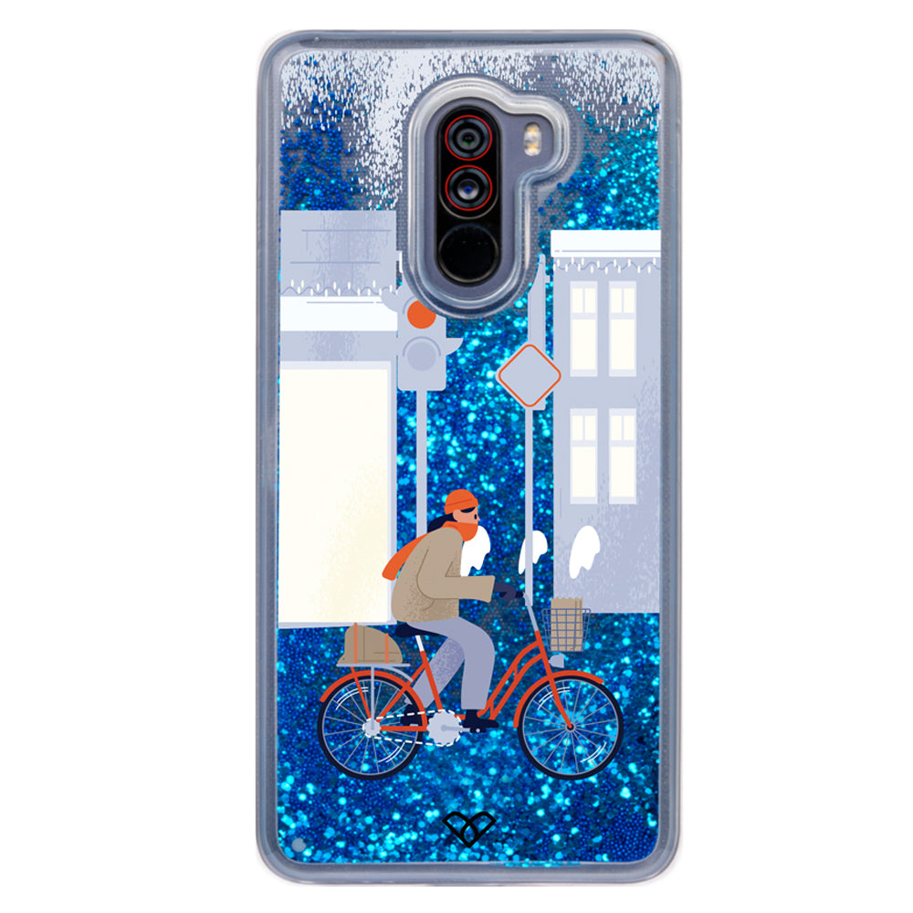 Pedal-Me-Glee Glitter Case And Cover For Poco F1