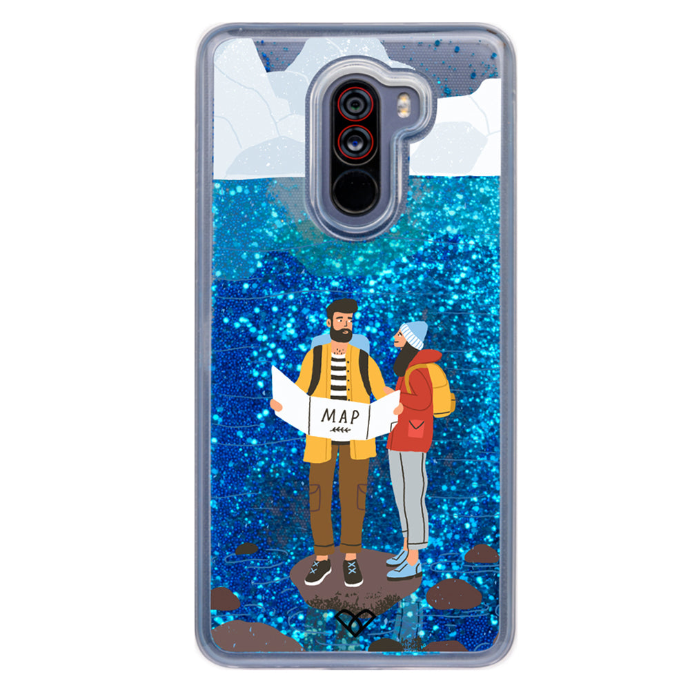 Travel Buddy Glitter Case And Cover For Poco F1