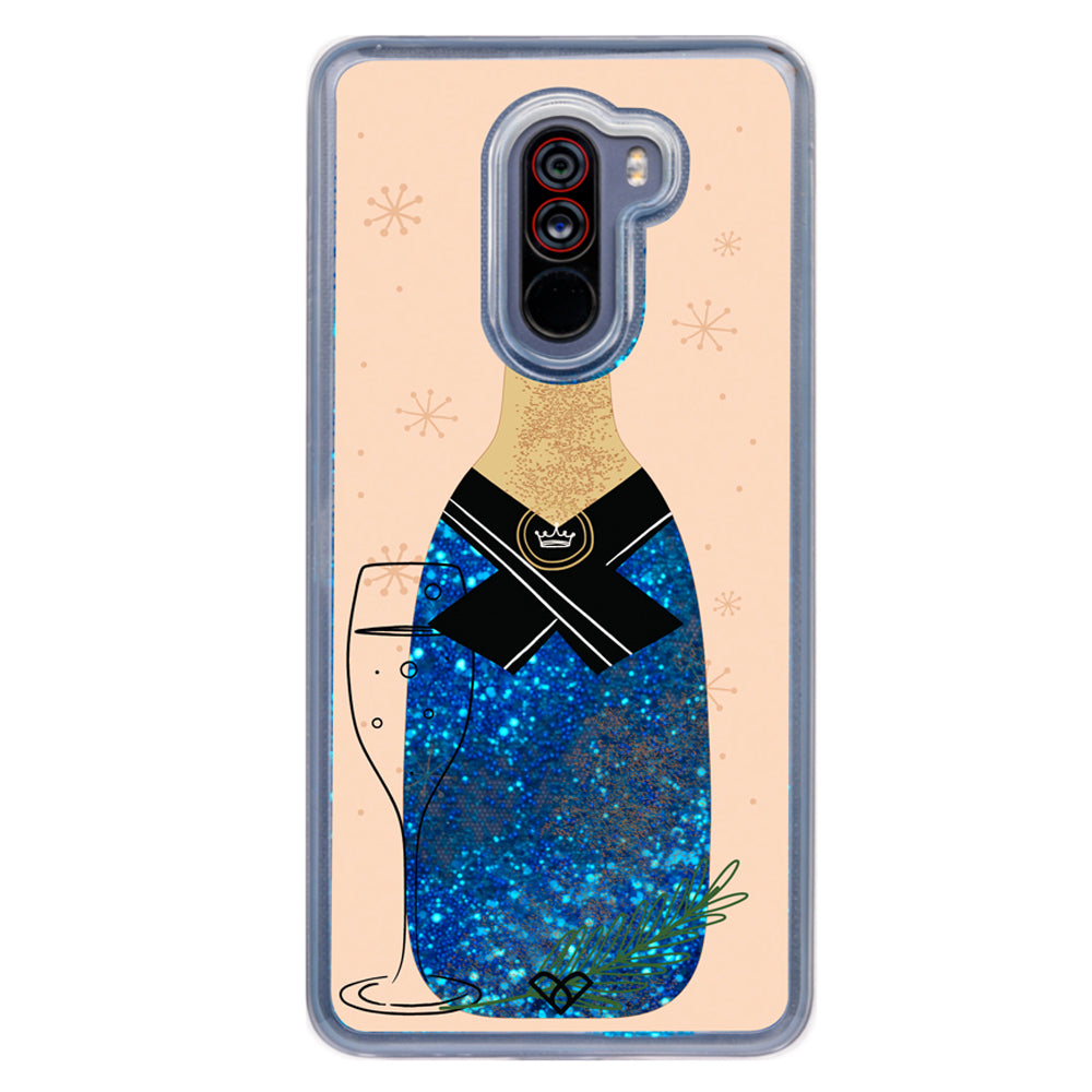 Sparkly Celebrations Glitter Case And Cover For Poco F1