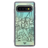 Luke And Yoda Neon Sand Liquid Case And Cover For Galaxy S10
