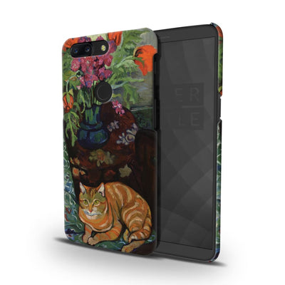 Bouquet And Cat Slim Case Cover For Oneplus 5T