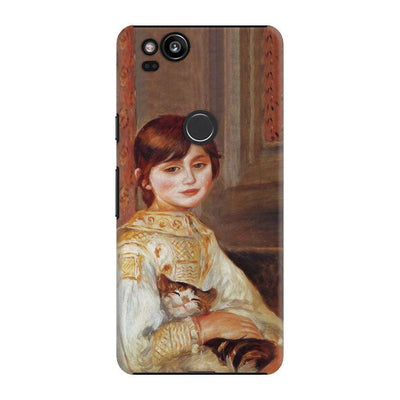 Child With Cat Slim Case For Pixel 2