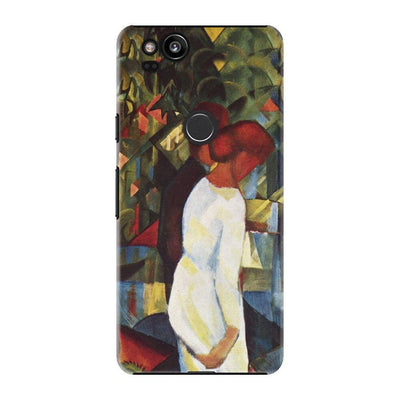 COUPLE IN THE WOODS OIL ON CANVAS 1912 Slim Case For Pixel 2