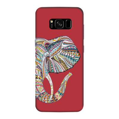 Elephant-The Mighty Humble Being Slim Case And Cover For Galaxy S8 Plus - Red