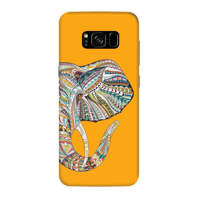 Elephant-The Mighty Humble Being Slim Case And Cover For Galaxy S8 Plus - Yellow