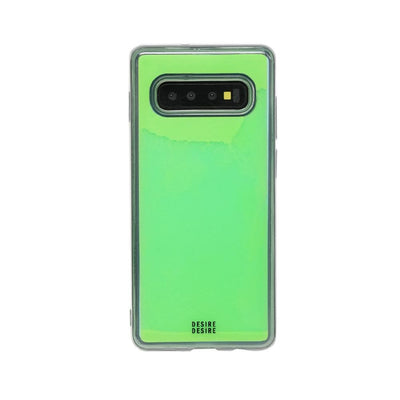 Galaxy S10 Custom Neon Sand Liquid Cases And Covers-Green