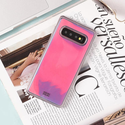 Galaxy S10 Plus Custom Neon Sand Liquid Cases And Covers-Pink