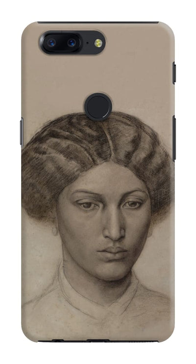 Head Of A Young Woman (Mrs. Eaton) Black Chalk And Charcoal With Stumping 1863-1865 Slim Case Cover For Oneplus 5T