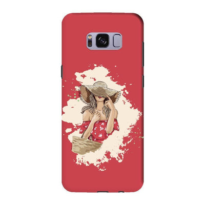Hello Summer! Slim Case And Cover For Galaxy S8 - Red