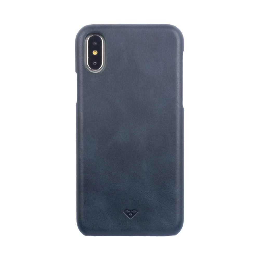 iPhone X Leather Cases And Covers-Aegean Blue