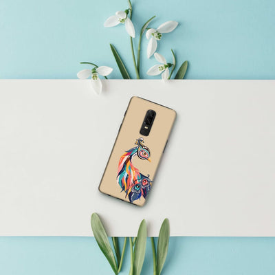Incredible Colors Of The Peacock Slim Case And Cover For Oneplus 6