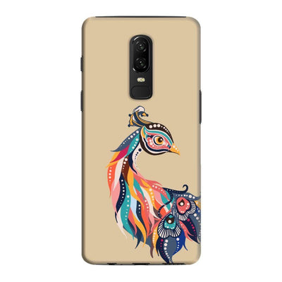 Incredible Colors Of The Peacock Slim Case And Cover For Oneplus 6 - Brown